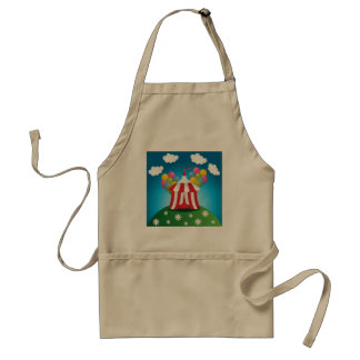 Red Circus Tent Apron