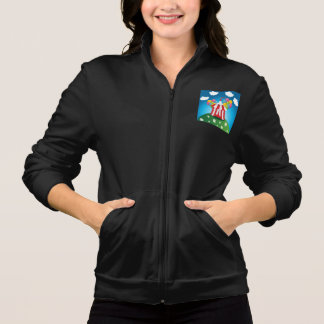 Red Circus Tent Womens Jacket