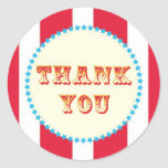Red Circus Thank You Sticker