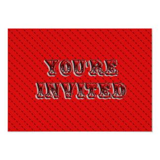 Red Circus Ticket Invitation