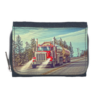 Red Cistern Truck - Lorry and Highway Art Wallets