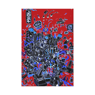 Red city crunch canvas print