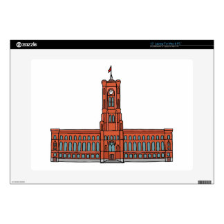 "Red City Hall Berlin 15"" Laptop Skins"