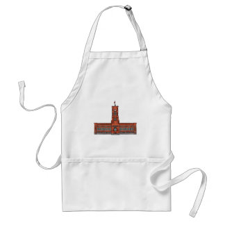 Red City Hall Berlin Adult Apron