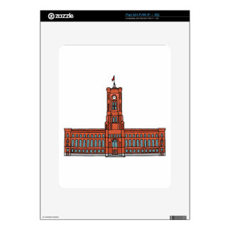 Red City Hall Berlin Decals For iPad