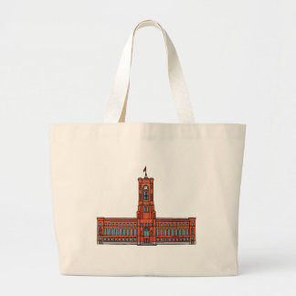 Red City Hall Berlin Large Tote Bag