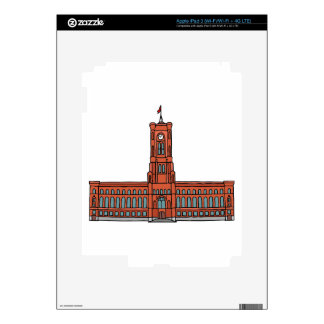 Red City Hall Berlin Skin For iPad 3