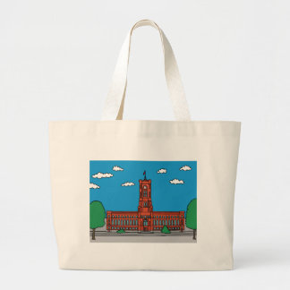Red Cityhall in Berlin Large Tote Bag