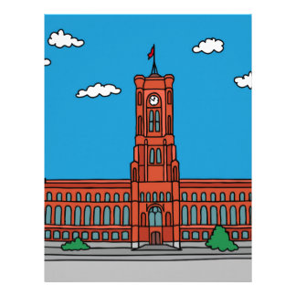 Red Cityhall in Berlin Letterhead