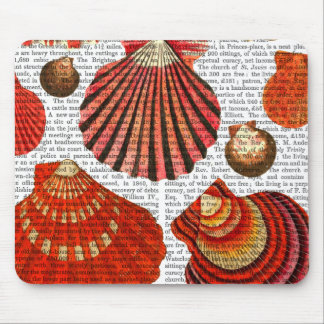 Red Clam Shells Mouse Pad