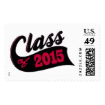 Red Class of 2015 Stamps