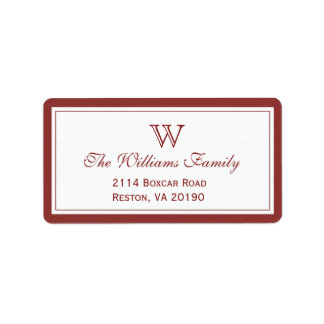 Red Classic Border Personalized Address Labels