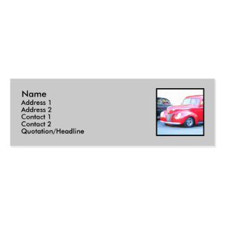 Red Classic car business cards