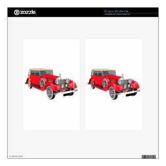 Red Classic Car Decals For Kindle Fire