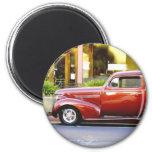 Red Classic Car Fridge Magnets