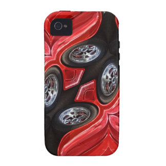 Red Classic Car Geometric iPhone 4/4S Covers