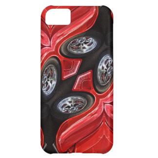 Red Classic Car Geometric iPhone 5C Cases