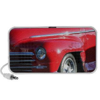 Red Classic Car Laptop Speaker