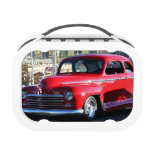 Red Classic Car Lunch Boxes