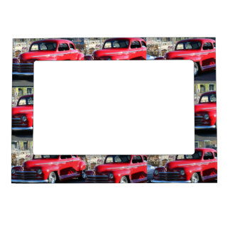 Red Classic Car Magnetic Picture Frame