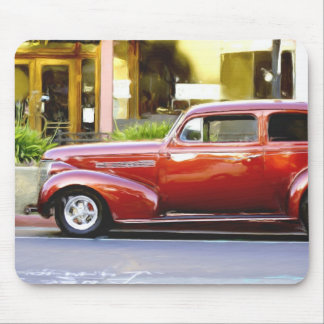 Red Classic Car Mouse Pad