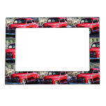 Red Classic Car Photo Frame Magnets