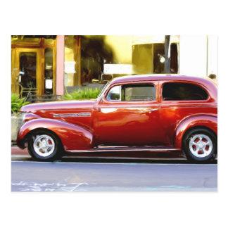 Red Classic Car Postcard