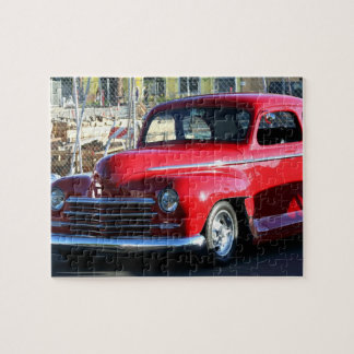 Red Classic Car Jigsaw Puzzles