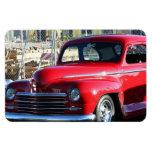 Red Classic Car Vinyl Magnet