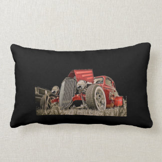 Red Classic Collectors Vintage Car Pillow