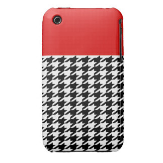 Red Classic Houndstooth iPhone 3 Case