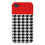 Red Classic Houndstooth iPhone 4 Case