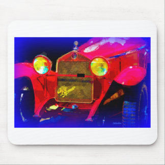 Red Classic Sports Car Mouse Pad