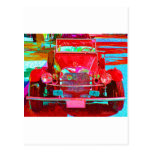 Red Classic Sports Car Postcard