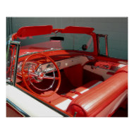 Red Classic Vintage Car Poster print