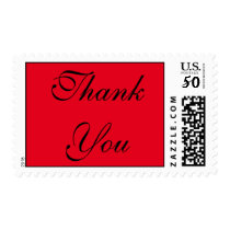 Red Classical Calligraphic Thank You Postage