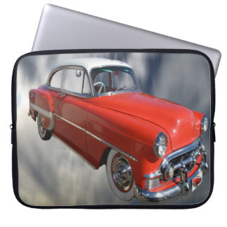 Red Classy Vintage Car, Computer Sleeve