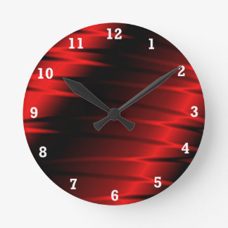 Red Claws Round Clock