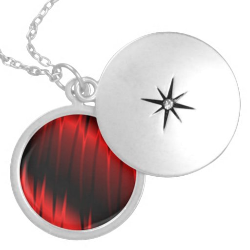 Red Claws Round Locket Necklace