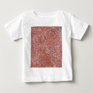 Red Clay Court, Gravel, Shale Stone Brick, Tennis Baby T-Shirt
