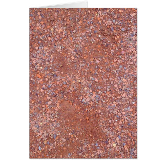 Red Clay Court, Gravel, Shale Stone Brick, Tennis Card