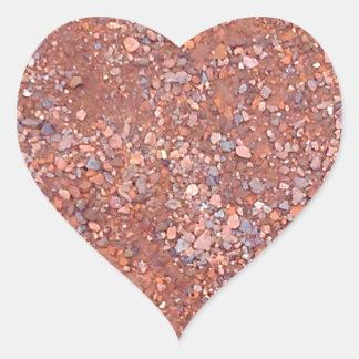 Red Clay Court, Gravel, Shale Stone Brick, Tennis Heart Sticker