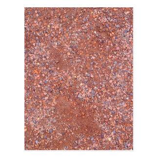 Red Clay Court, Gravel, Shale Stone Brick, Tennis Postcard
