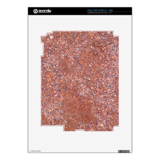 Red Clay Court, Gravel, Shale Stone Brick, Tennis Skin For iPad 2
