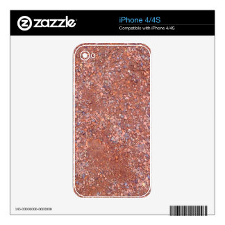 Red Clay Court, Gravel, Shale Stone Brick, Tennis Skins For The iPhone 4S