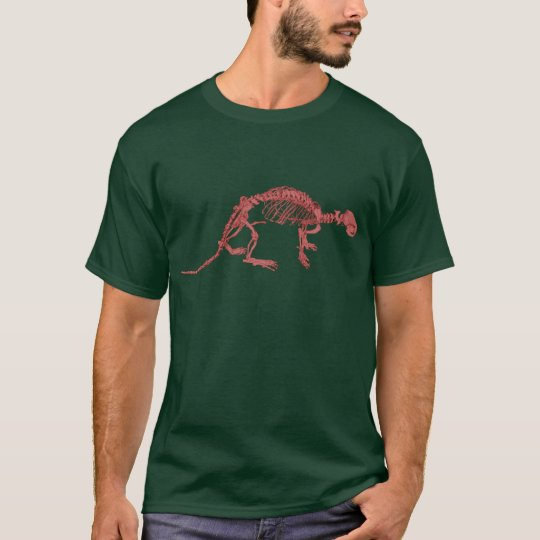 Red Clay Otter Skeleton T-Shirt