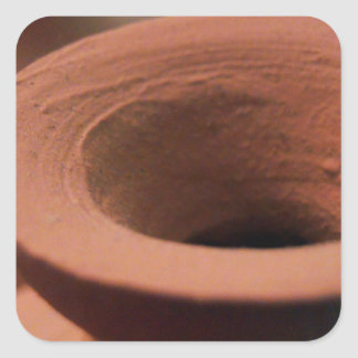 Red Clay Pottery Photography Square Sticker