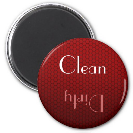 Red Clean and Dirty Dishwasher Magnet