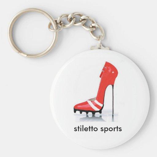 red cleat stiletto, stiletto sports key chains