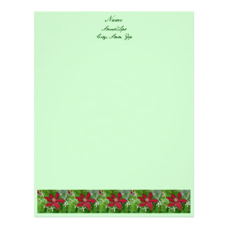 Red Clematis Letterhead